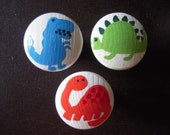 Custom Handpainted Wooden Drawer Pulls or Knobs Dinosaurs