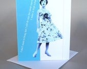 Funny Greeting Card Retro Vintage Gift For Her -I don't want to brag ...