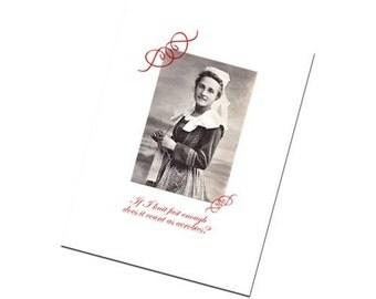 Knitting Greeting Card Funny Retro Flair Vintage Design