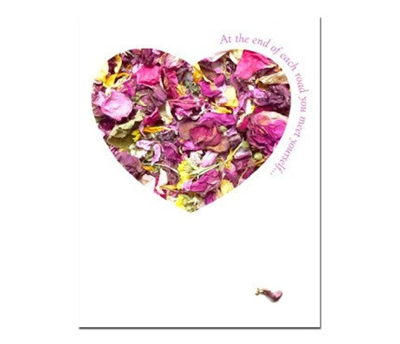 Heart Greeting Card Roses Blank Inside No.1