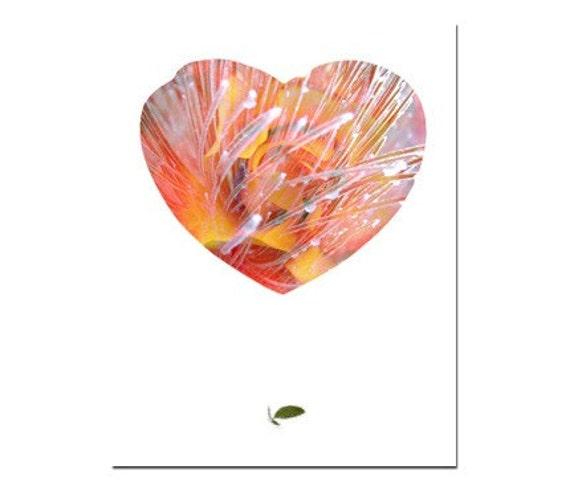 I Love You Greeting Card Heart Rose Handmade No.4