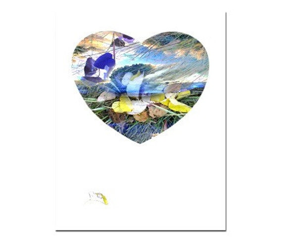 Greeting Card Heart Stormy Clouds Original Photography Collage no.5