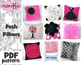 Easy Posh Pillows PDF Pattern 9 Styles Tutorial