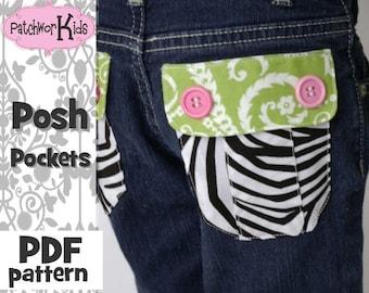 Posh Pockets Embellishing Jeans 101 Ebook Tutorial Pattern