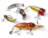 An Instant COLLECTION of Vintage FISHING LURES - Set of 5