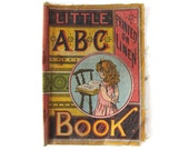 Antique Little ABC Book - Printed On Linen