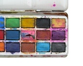 Circus Watercolor PAINT BOX Tin - Vintage Watercolours Tin, Made in England
