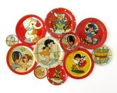 Tin Toy Saucers - Instant COLLECTION - Set of 11 Tea Set Pieces