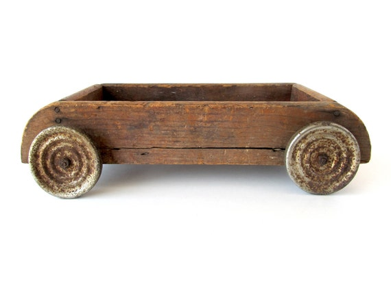 Wooden Wagon with Jingle Bell Wheels