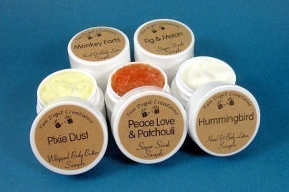 Mix or Match Sampler - Choose Any Three - Pick from Body Butter, Body Lotion, and Sugar Scrub