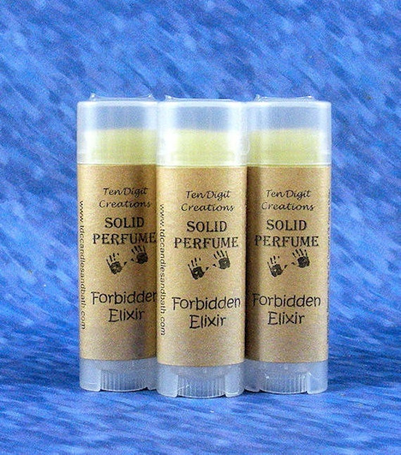 FORBIDDEN ELIXIR Solid Perfume - .15oz Oval Tube (frankincense, musk, rose, patchouli, orange blossom) - CLEARANCE  ((Last One))