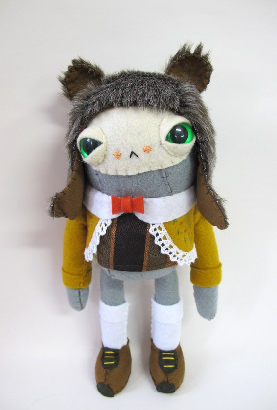 Furry Hatted Rabbit - Made to Order