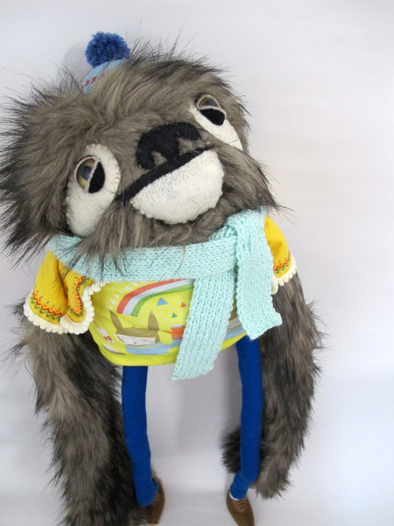 Large Sloth Fellow in Yellow and Blue