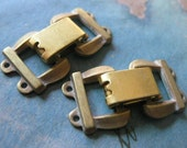 1 PC Solid Brass Heavy Gauge Two Strand Fold Over Box Clasp - BB12