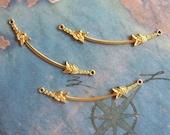 2 PC Raw Brass Victorian Pendant Bar -  J0203