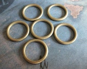 4 PC Solid Seamless Heavy Gauge Raw Brass Ring / Hoop - CC03