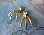 2 PC Raw Virgin Brass Avian / Bird Claw Foot - Small ZNE 0007V