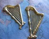 1 PC Large Brass Stamping Harp - MM02