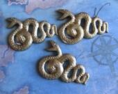 1 PC Brass Snake Stamping / Heavy Gauge - KK20
