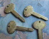 2 PC Tiny Brass Key Blank - ZNE 0001V