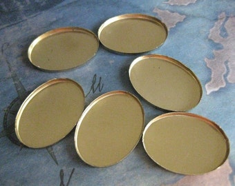 6 PC BrassCameo / Cabochon Bezel - Cup Setting - 18mm x 25mm X-0002