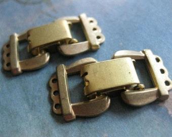 1 PC Solid Brass Extra Heavy Gauge Three Strand Fold Over Box Clasp - II05