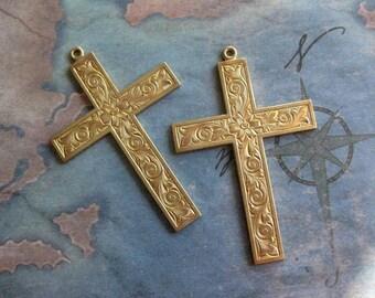 1 PC Solid Brass Cross Pendant - W0009