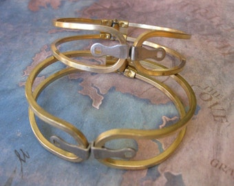 1 PC Raw Brass Heavy Gauge Hinged Bracelet - B098