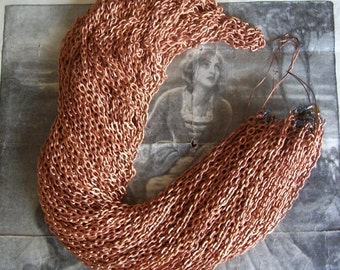 10 FT / 4 PCS - 30 Inch Textured Cable Chains / Copper Plated Steel - MF12
