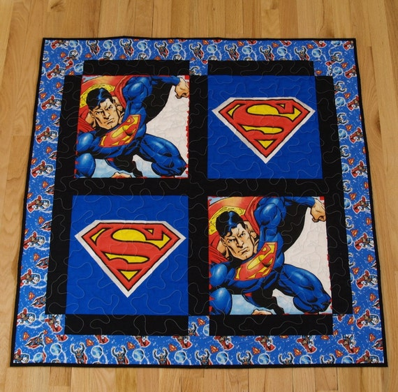 Super Hero Baby Quilt By Undmyumbrella On Etsy