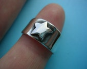 Silver Star Toe Ring - Sterling Silver