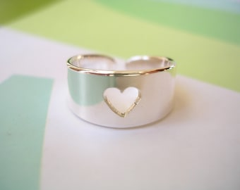 Sterling Silver Toe Ring - Pierced Out Heart Design