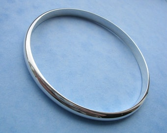 Simple Silver Bangle - 6mm Solid Silver