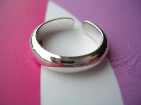 Simple Toe Ring - Sterling Silver Wedding Band Style