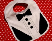 Dressed for Dinner Tuxedo Baby Bib