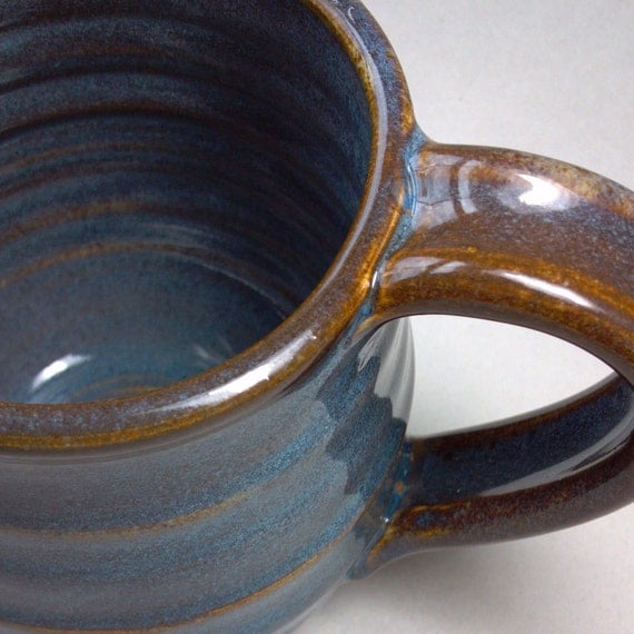 Coffee Mug in Floating Blue Glaze