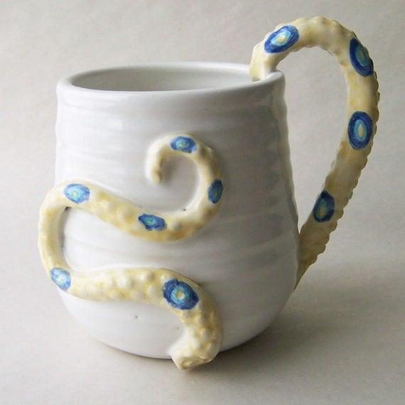Blue Ring Octopus Tentacle Coffee Mug