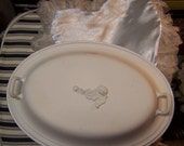Shabby Covered Dish and Vintage satin Heart Pillow