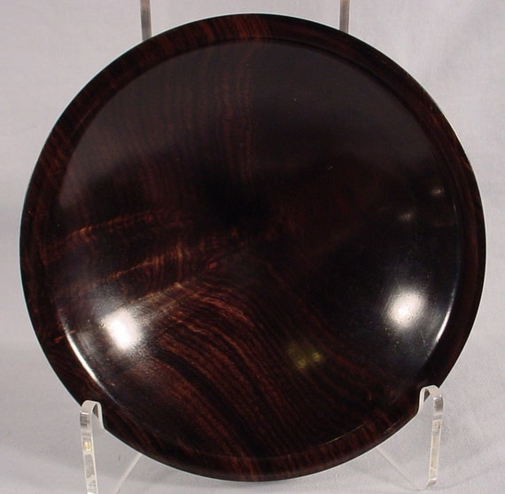 African Blackwood Ring or Coin Dish bowl number 4520 by Bryan Tyler Nelson is NELSONWOOD