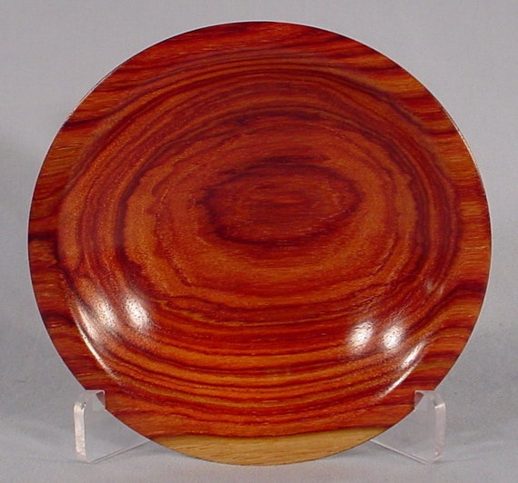 Reserve for Mike Joly only Exotic Tulipwood Ring or Coin Dish Wood Bowl number 4408 turned by Bryan Nelson