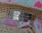 Mothers Bracelet Cuff Bangle - Hand stamped