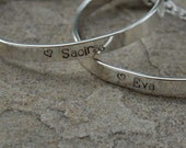 Simple hand stamped bangle perfect for baby, child, tween, teen, aunts, mothers ...anyone