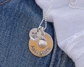 Fleur de lis - sterling necklace ideal for birthdays or bridesmaid flower girl gift