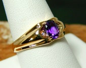 10k Gold Ring with Amethyst - Close out was 195.00 now 99.00   (30)