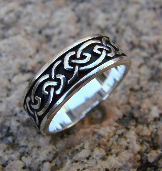 Celtic Knots - Sterling Silver Ring - (235)