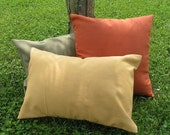 FREE SHIPPING two 18 x 18 throw pillow covers - choose from twenty gorgeous fabric colors - all sizes and quantities available