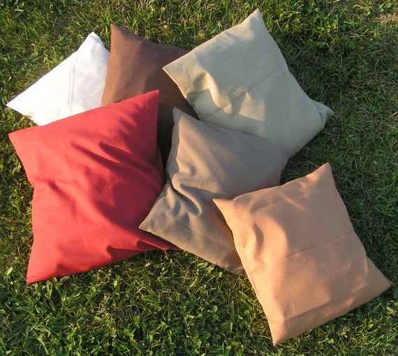 Two Handmade 24 x 24 Throw Pillow Covers in 20 Gorgeous Colors, all sizes and quantities available