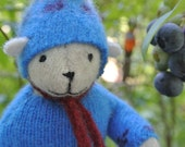 Pogo - Andrew, eco-friendly small bear, repurposed wool