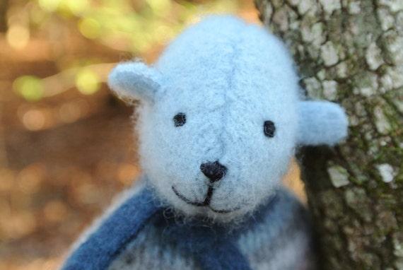 Pogo - Graham, eco friendly small bear, repurposed wool