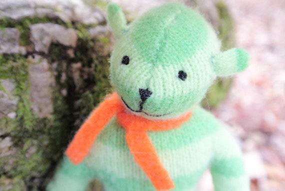 Pogo - Chance, eco friendly handmade bear, repurposed wool